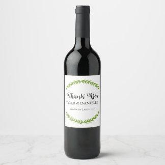 Wedding Wine Bottle Favor Thank You Label