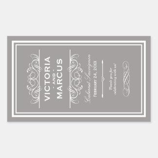 Wedding Wine Bottle Monogram Favor Labels Sticker