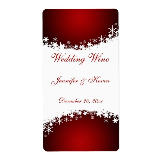 Wedding Wine Label Shipping Label