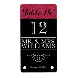wedding wine table number wine bottle label shipping label