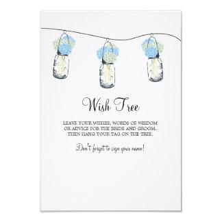 Wedding Wish Tree Tag 9 Cm X 13 Cm Invitation Card