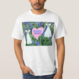 Wedding wishes, fresses, flowers and heart T-Shirt