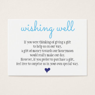 Wedding Wishing Well Card