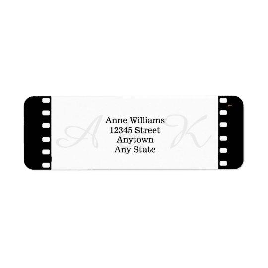 Wedding With A Movie Film Theme Return Address Label
