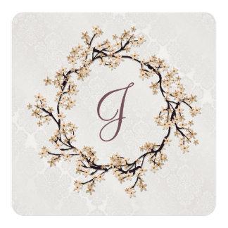 Wedding Wreath on Damask Card
