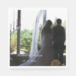 Wedding Your Photo and Names Personalized napkins Paper Napkin