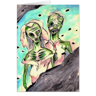 Wedding Zombies Greeting Card