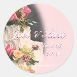 WeddingCakeSticker-customise Round Sticker