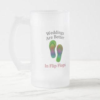 Weddings Are Better In Flip Flops Beach Wedding Coffee Mugs