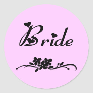 Weddings Classic Bride Round Sticker