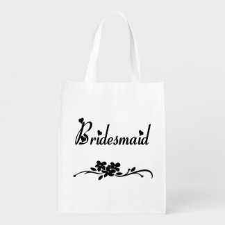 Weddings Classic Bridesmaid Reusable Grocery Bag