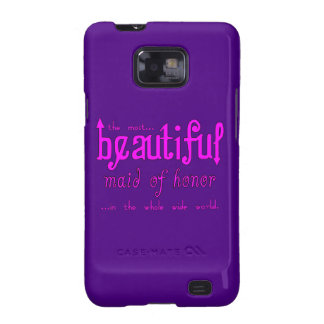 Weddings Favors & Tokens : Beautiful Maid of Honor Samsung Galaxy SII Cases