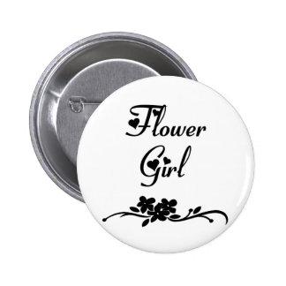 Weddings Flower Girl 6 Cm Round Badge