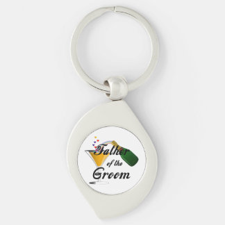 Weddings Grooms Father Silver-Colored Swirl Key Ring