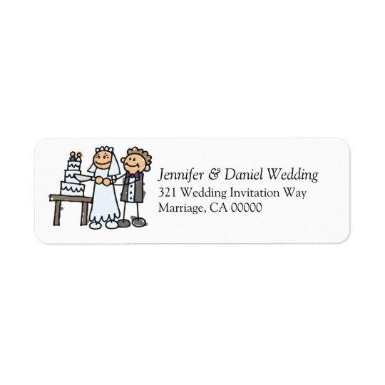 Weddings Invite Envelope  Label Stickers