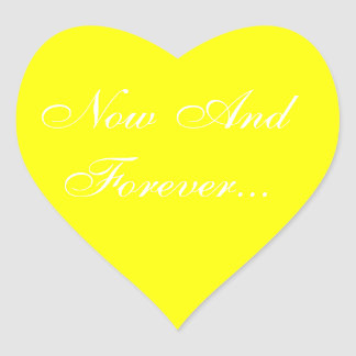 Weddings Invite Yellow Heart Sticker