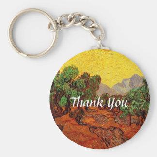 Weddings,Vincent van Gogh Olive Trees Keychain