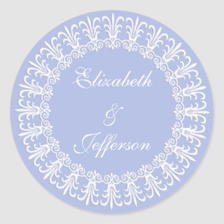 Wedgewood Blue 1 Wedding Envelope Seal / Sticker
