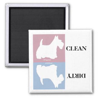 Wedgewoof Scottish Terrier Square Magnet