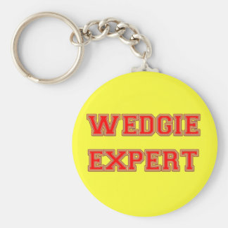 Wedgie Expert Basic Round Button Key Ring