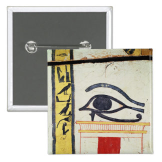 Wedjat Eye, detail from the sarcophagus cover of t 15 Cm Square Badge
