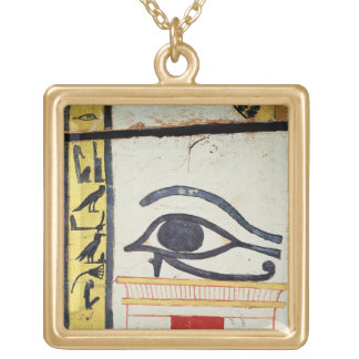 Wedjat Eye, detail from the sarcophagus cover of t Square Pendant Necklace