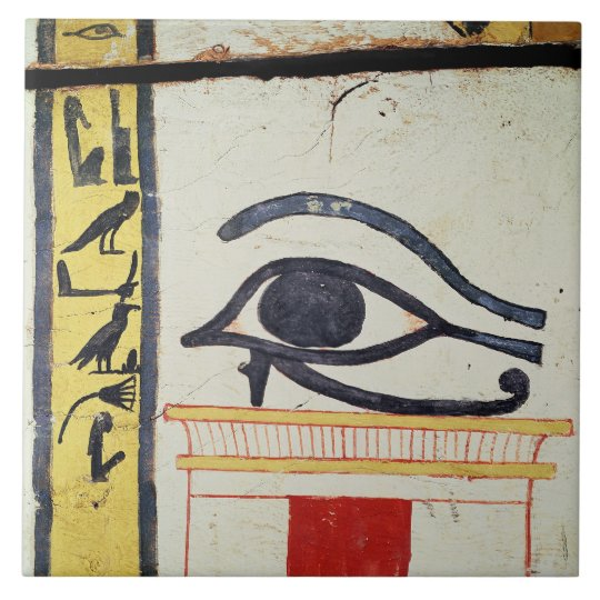Wedjat Eye, detail from the sarcophagus cover of