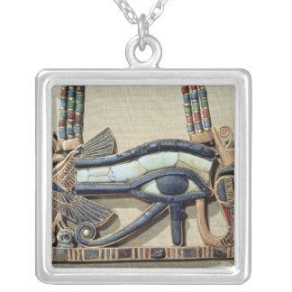 Wedjet eye pectoral silver plated necklace