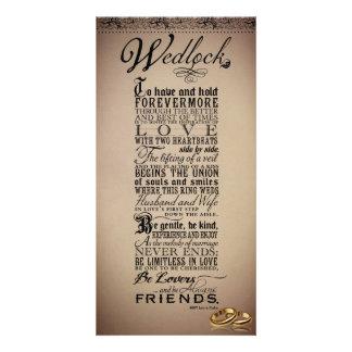 Wedlock Marriage Wedding Original Poem Customized Photo Card
