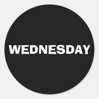 Wednesday Ad Lib Black Sticker by Janz