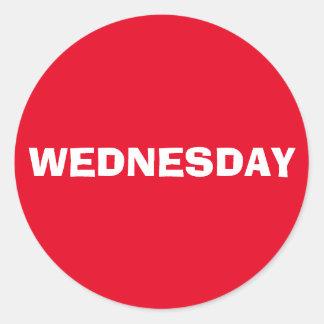 Wednesday Ad Lib Red Sticker by Janz