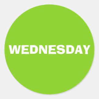 Wednesday Ad Lib Yellow Green Sticker by Janz