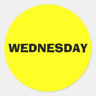 Wednesday Ad Lib Yellow Sticker by Janz