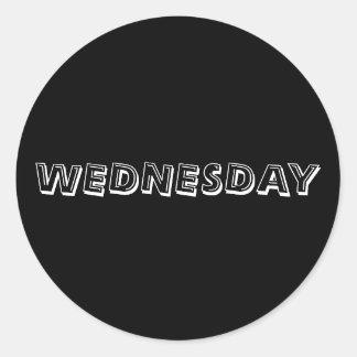 Wednesday Alphabet Soup Black Sticker by Janz