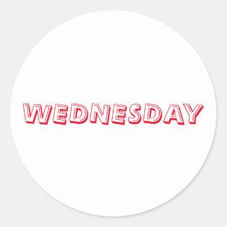 Wednesday Alphabet Soup Red White Sticker by Janz