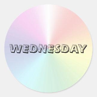 Wednesday Alphabet Soup Shimmer Sticker by Janz
