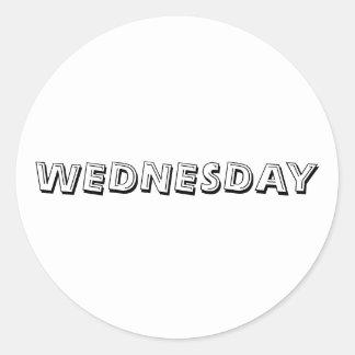 Wednesday Alphabet Soup White Sticker by Janz