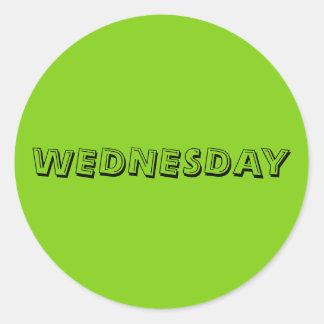 Wednesday Alphabet Yellow Green Sticker by Janz
