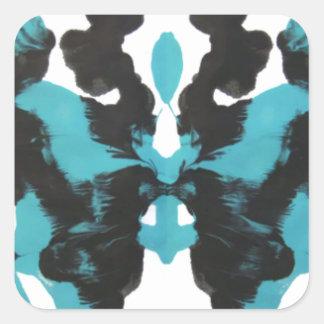 Wednesday Blue Inkblot Design Sticker