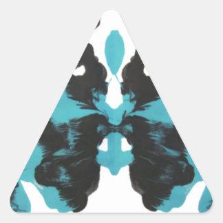 Wednesday Blue Inkblot Design Triangle Sticker