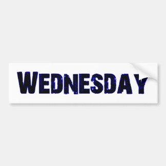 Wednesday Day of the Week Merchandise Bumper Sticker