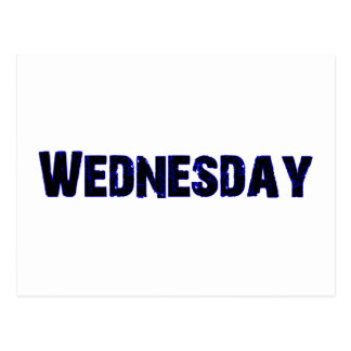 Wednesday Day of the Week Merchandise Postcards