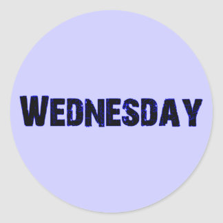 Wednesday Day of the Week Merchandise Round Sticker