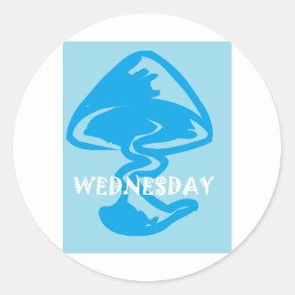 WEDNESDAY mushroom Round Sticker