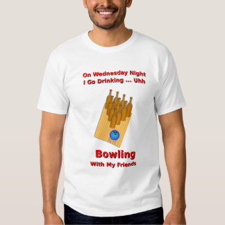 Wednesday Night Beer Bowler T Shirts