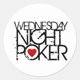 Wednesday Night Poker Round Stickers
