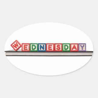 Wednesday Oval Sticker
