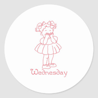 Wednesday Round Sticker