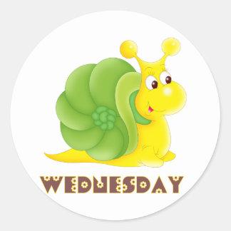 Wednesday Snail Round Sticker