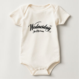 Wednesday The City is ours - slight distress black Baby Bodysuit